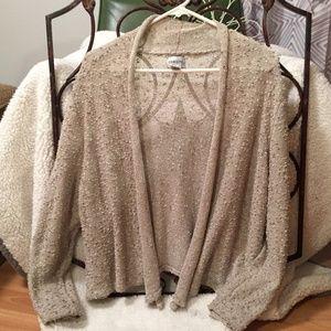Chico's Beige Open Cardigan Sweater. Size 2